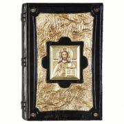 Библия золотая с иконой