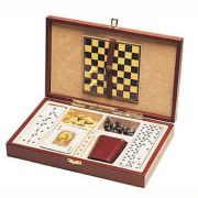 Набор игр в кожаной коробке